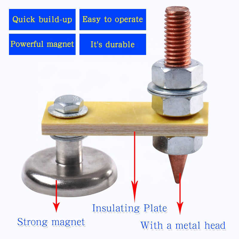 Magnetic Welding Support Head Ground Clamp Holder Wire Tool Strong Magnetism