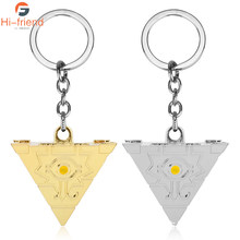 2019 new fashion Two Colors Yu-Gi-Oh Necklace 3D Puzzle Pendant keychain Accessory for Women and Men(China)