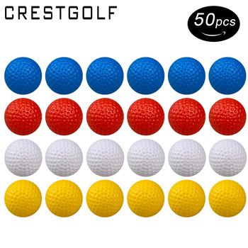 CRESTGOLF Golf Practice Ball, Hollow Golf Plastic Balls for Indoor Training -Pack of 50pcs 4 Colors for Your Choice