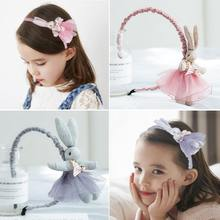 Детская повязка на голову с кроликом для маленькой девочки очень