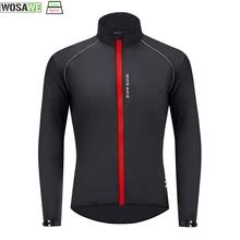 Cycling-Jacket WOSAWE Mountain-Bike Water-Repellent Ultralight Reflective Windproof Ciclismo