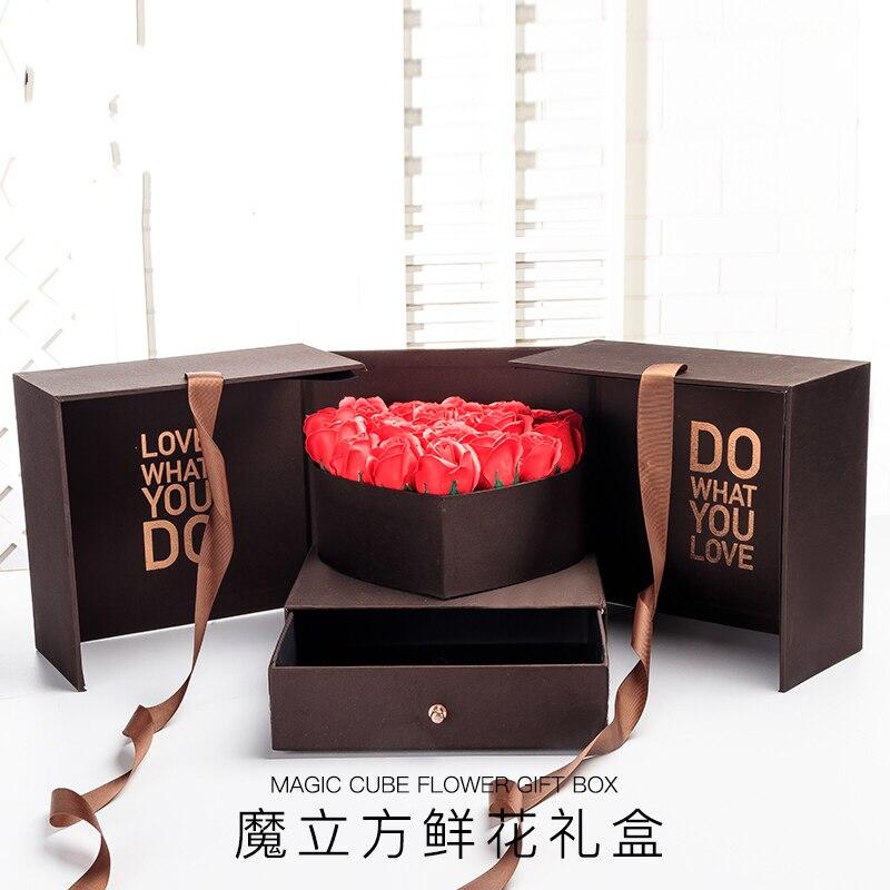 Подарочная коробка, цветочные коробки, Декоративный ящик для хранения, отличный подарок ко Дню Святого Валентина, для подруг, жены, на день р