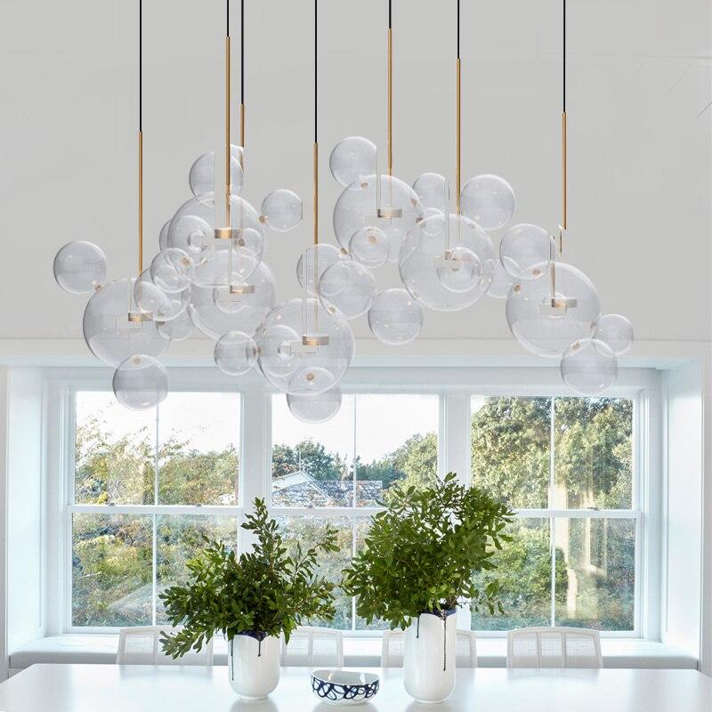 Nowoczesny loft wiszący bańka mydlana mickey szklany wisiorek lampa wisiorek LED światła do kuchni restauracja/Bar livingChild pokój sypialnia