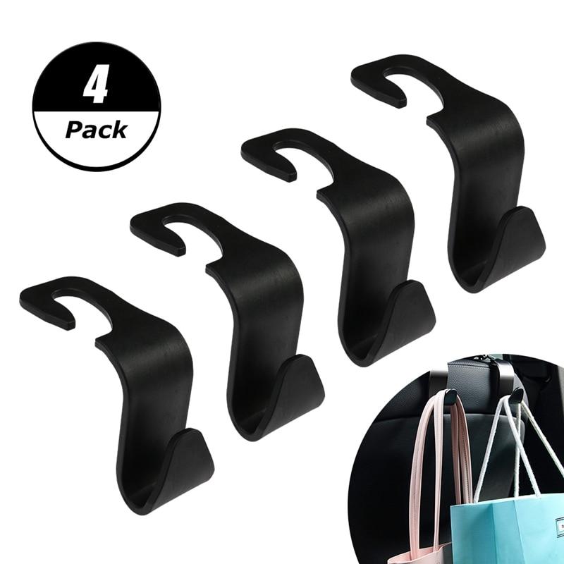 Universial Car Storage Hooks Headrest Hooks Car Seat Hanger Hook Organizer Plastic Storage Holder For Handbag Purse