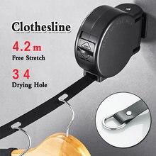 Сушилка для белья веревка сушки одежды выдвижная хранения сушилка