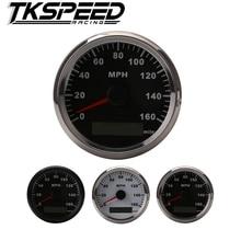 GPS 12V 24V Universal MPH Speedometer Odometer Black Background For ATV UTV Motorcycle Marin
