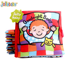 Jollybaby Soft Cloth Books Peek a boo Fabric Activity Crinkly Books Educational Infant Baby