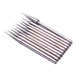 Image 5 - Nuovo 10 pz 2.35mm gambo diamante testa di macinazione da 0.75 a 3.82mm rettifica punta dellago fresa per metallo vetro giada incisione strumento di intaglio