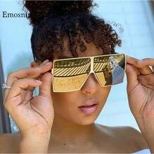 Lunettes de soleil carrées surdimensionnées pour hommes et femmes, monture métallique, Vintage, miroir, bleu, or, UV400, 2020