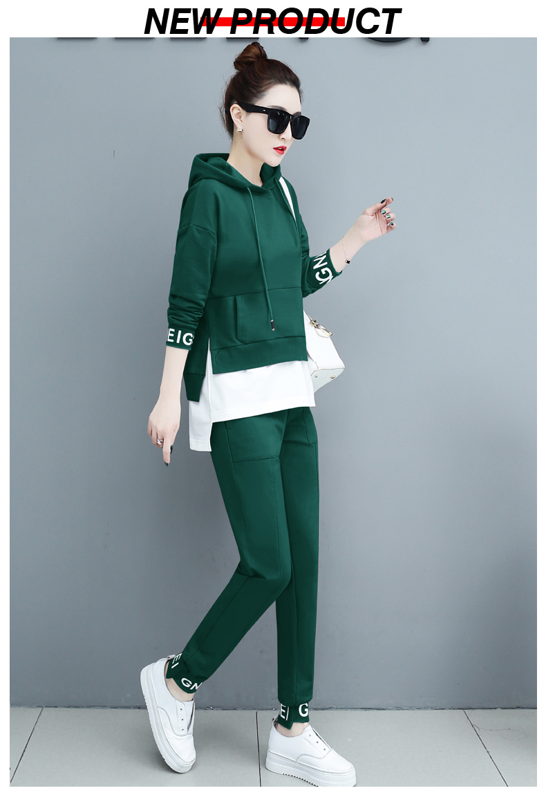 Autumn Sport Two Piece Sets Tracksuits Outfits Women Plus Size Hooded Sweatshirts And Pants Korean Casual Fashion Matching Sets 65