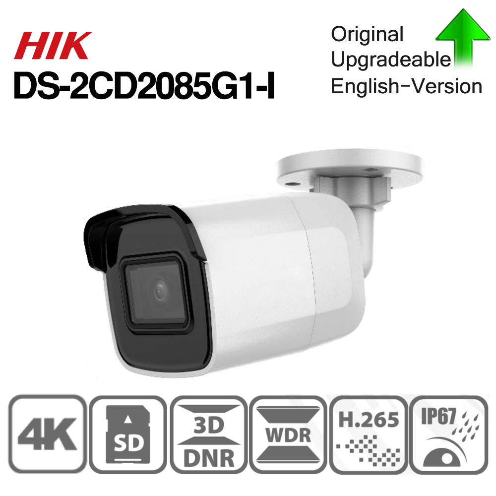 Hikvision Original DS-2CD2085G1-I 8MP 20fps Bullet Network CCTV  IP Camera H.265+ POE WDR SD Card Slot Powered By Darkfighter