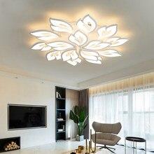 Moderno led lustre com controle remoto para sala de estar jantar quarto cozinha lâmpada do teto iluminação interior salão luminárias