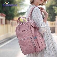 Sunveno กระเป๋าผ้าอ้อมกระเป๋าเป้สะพายหลังผ้านวมขนาดใหญ่ Maternity พยาบาลกระเป๋าเดินทางกระเป๋าเป้สะพายหลังเด็กกระเป๋าผ้าอ้อมเด็กทารก Care