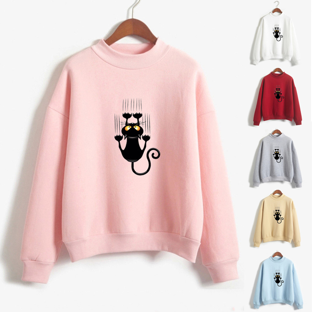 Womens Long Sleeve Rainbow Patchwork O Neck Sweatshirt Casual Blouse Pullover