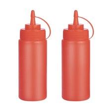 250 мл красная пластиковая бутылка для салата пищевой контейнер для масла, соуса, кетчупа, горчицы бутылки для приправ 1 шт