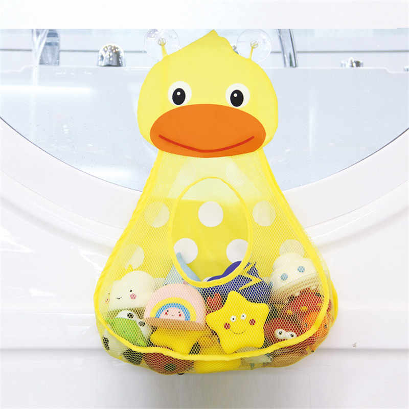 Baby Shower Bath Toys Little Duck Little Frog Baby Kids Toy Storage Mesh with Strong Suction Cups Toy Bag Net Bathroom Organizer