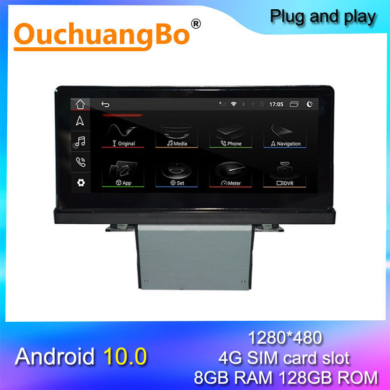 Ouchuangbo 8 + 128 android 10 автомобильный радиоприемник, мультимедийное радио для 8,8 дюймового Q2 Q2L 2016-2020, поддержка gps 4G carplay 8 ядер