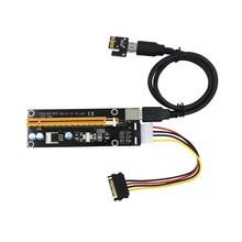50Pcs TISHRIC GPU PCIE PCI-E Riser 006 card PCI E X16 PCI Express 4pin 1X 16X USB3.0 Extender LED For Mining ETH BTC