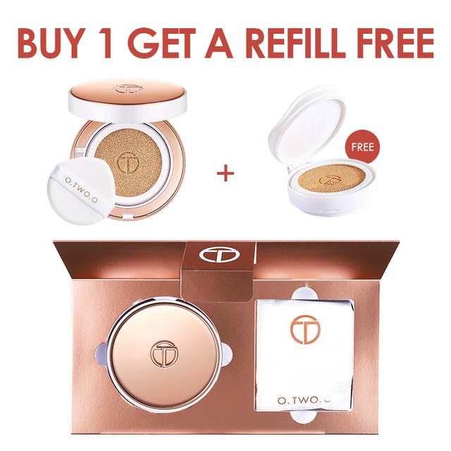 O.TWO.O Air Cushion BB Cream CC Cream Moisturizing Concealer Bright Makeup Base Long Lasting Foundation Cream With Makeup Puff 2