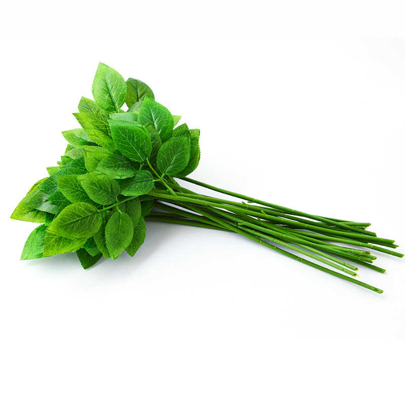 25 יח'\חבילה פרח קצרמר נובע נייר/ירוק פרחוני קלטת ברזל חוט מלאכותי פרח קצרמר נובע קרפט דקור סבון מחזיק פרחים גזע
