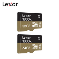 Lexar Professional 1800x microSDXC UHS II Micro SD Cards 64GB 32GB Up to 270MB/s V90 U3 Class 10 Memory Card Flash TF Cards