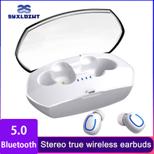 цена на TWS 5.0 Bluetooth Earphone Wireless Headphone Sport Mini 3D Stereo Earbuds With Mic Wireless Bluetooth Headset For iphone Phone