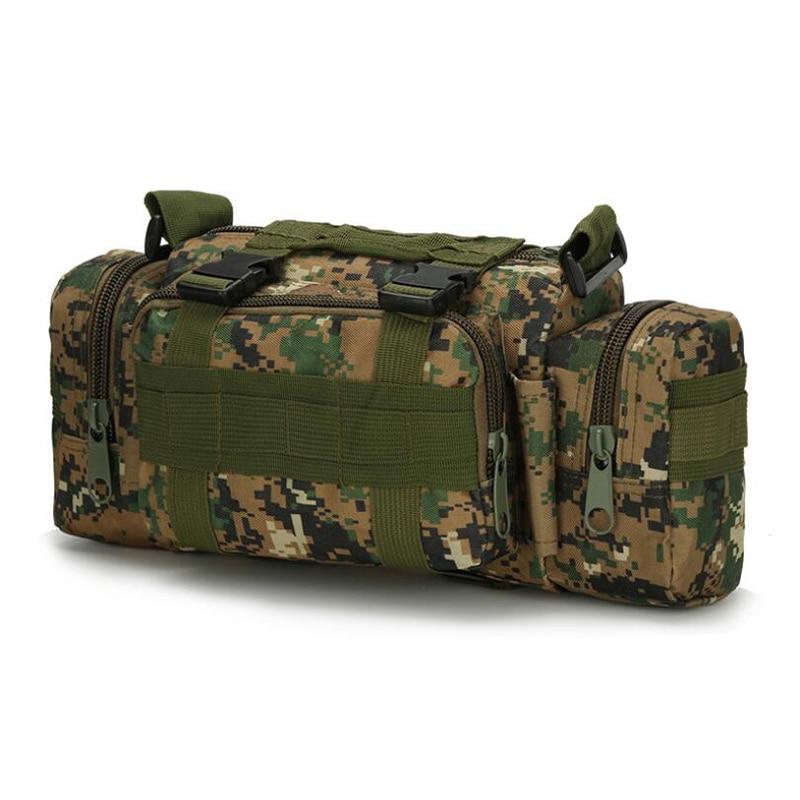 LKEEP Tactical Men Waist Pack Bum Bag Pouch Waterproof Military Male Belt Waist Packs Oxford Mobile Phone Wallet Travel Bag