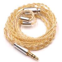 3.5/2.5/4.4mm Balanced Upgraded Customize Headphone Cable Sterling silver plated wire HiFi audio Headset line for se846 T1117