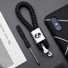 Metal Leather Car Styling Keychain Key Rings For Lexus RX300 IS 250 300 GX 400 460 UX 200 NX LX GS ES Auto Interior Accessories