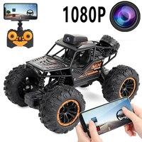 APP per auto radiocomandata telecomando per auto Wifi telecamera HD RC 4WD Buggy SUV 1/18 Rc auto giocattoli per auto elettriche per ragazzi arrampicata auto