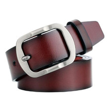 High Quality Men's Faux Leather Casual Belt Men Vintage Design Pin Buckle PU Leather Belts Male Retro Waistband Cummerbund