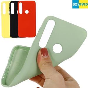Image 1 - Vloeibare Siliconen Case Voor Motorola Moto G8 Plus Spelen Een Macro Soft Gel Rubber Beschermende