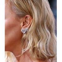ZAKOL mignon or blanc déclaration fleur boucles d'oreilles bijoux avec cristal de zircone CZ pour les femmes cadeau de noël FSEP2028