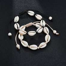 Hot Sale Handmade Natural Seashell Hand Knit Bracelet Shell Bracelets Women Accessories Beaded Strand Bracelet Best Friend Gifts(China)