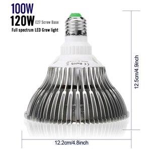 Image 5 - LVJING LED Grow light 100W 120W Full Spectrum Fitolamp Hydroponics Phyto Lamp For Indoor Vegs Flower Seedlings Plants Lighting