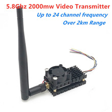 Over 2Km Range 5.8Ghz 2W FPV Wireless Transmitter TS582000 5.8G 2000MW 8CH Video AV Audio Sender