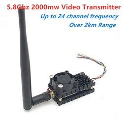 Over 2Km Range 5.8Ghz 2W FPV Wireless Transmitter TS582000 5.8G 2000MW 8CH Video AV Audio Sender