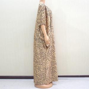 Image 3 - 2019 moda afrykański rękaw w kształcie skrzydła nietoperza wzór lamparta drukowana tkanina na sukienkę Plus rozmiar