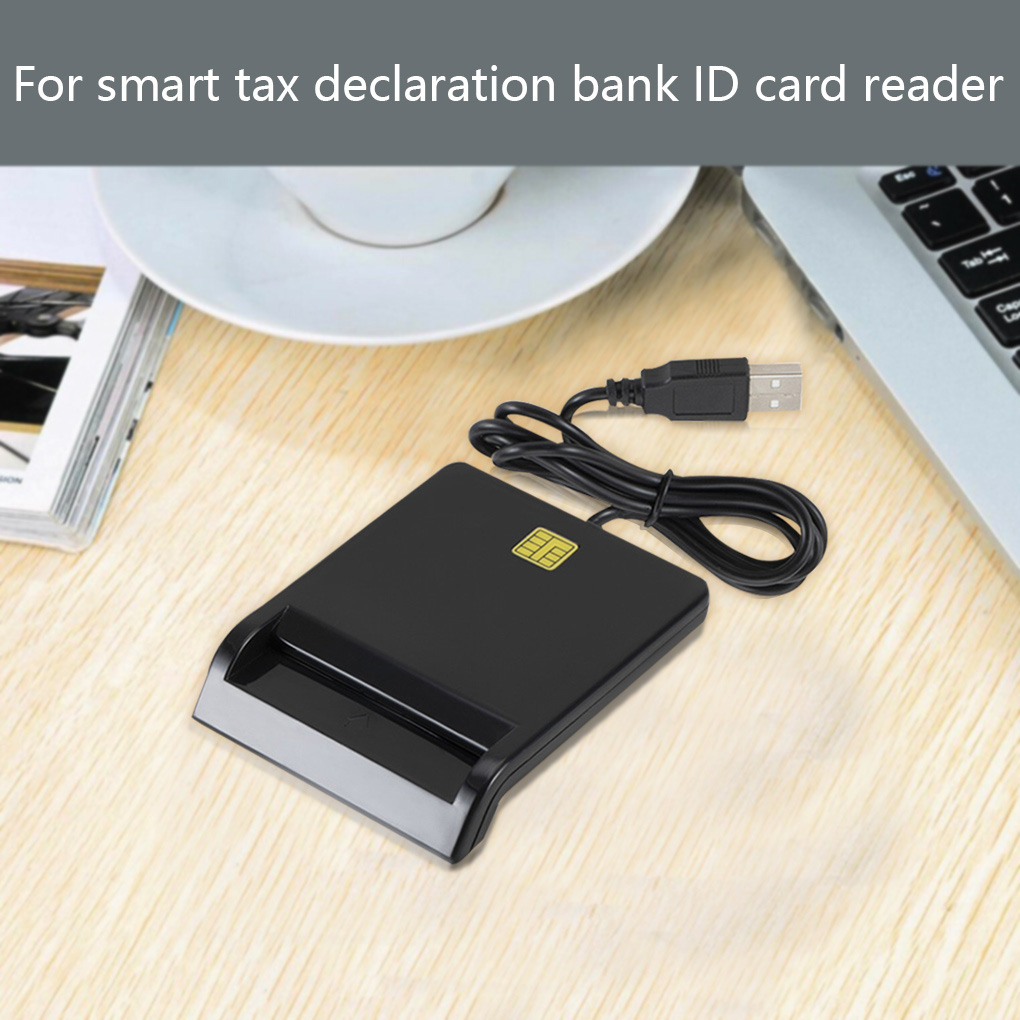 USB Smart Card Reader For DNIE ATM CAC IC ID Bank Card SIM Card Reader Cloner Connector for Windows Linux for  Android Phone 5