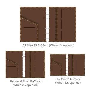 Image 2 - Винтажный кожаный дневник ручной работы, блокнот формата А5, персональная папка на кольцах А7, скетчбук для дорожного журнала, бизнеса, школьных принадлежностей