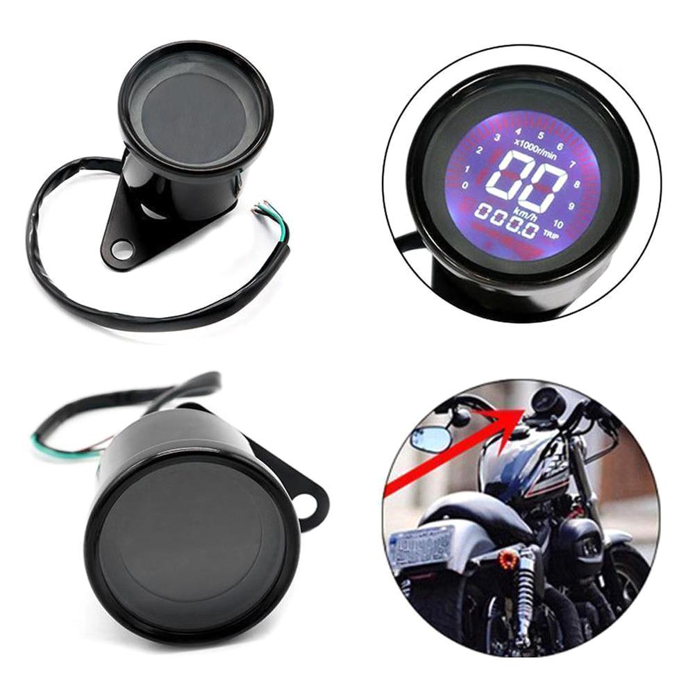 Universal motocicleta velocímetro backlight lcd digital tacômetro
