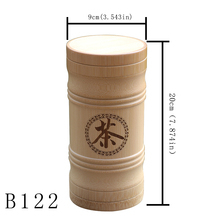 Eco-Friendly Home Storage Bottles Jars Natural Bamboo Jars Chinese Tea Canister Christmas Candy Jar for Coffee Food Storage wooden storage box kitchen bottles jars miscellaneous grains sealed cans food storage jars tea leaf coffee beans candy jars