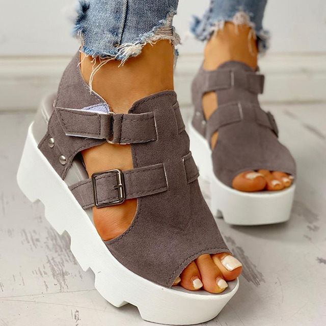 $ US $15.10 SARAIRIS 2020 Fashion Summer Platform Wedge High Heels Casual Comfortable Light Leisure Shoes Woman Sandals Women Shoes Female