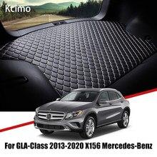 De cuero estera de maletero de coche alfombra cola Benz X156 buques de carga para Mercedes Benz GLA clase 2013-2020 maletero bota Mat Benz GLA de Pad