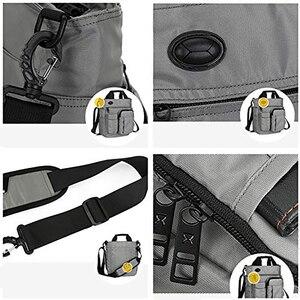 Image 5 - メンズショルダーバッグ、多機能クロスボディメッセンジャーバッグビジネスサッチェルスリングバッグ旅行ipad文書ブリーフケース