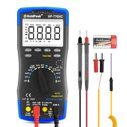 Цифровой мультиметр Multimetro HoldPeak с автоматическим диапазоном, измеритель напряжения переменного тока, измерение температуры/частоты/рабочи...