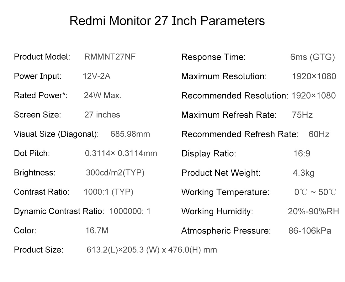 Redmi Display 27 inches
