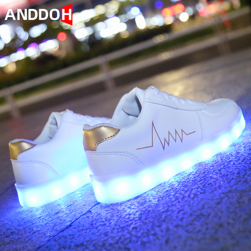 Size 30-41 Children Glowing Casual Shoes Children Sneakers With Light Luminous Sneakers For Boys And Girls Led Light Up Shoes