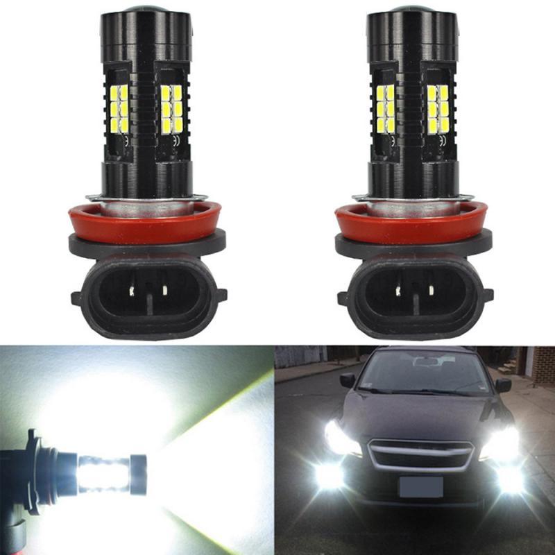 2 шт. H8 H11 светодиодный туман светильник лампочка 3030SMD 1800LM 6000K белый автомобиль, вождения, бега, лампы авто светодиодный светильник 12V 24V автомо...