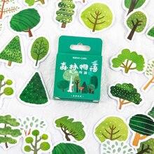 46 unidades/pacote kawaii pequenas árvores série decorativo papelaria adesivos scrapbooking diy diário álbum vara etiqueta